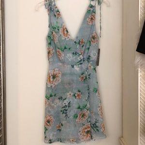 Lulu's Lagoon Sage Green Floral Print Dress